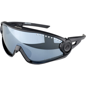 Alpina 5W1NG CM+ Glasses, all black/black mirror